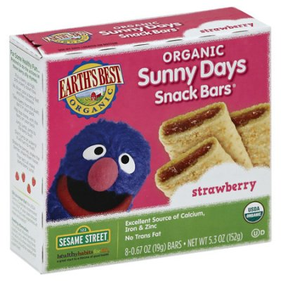 Snack Bars, Strawberry, Sunny Days, Organic