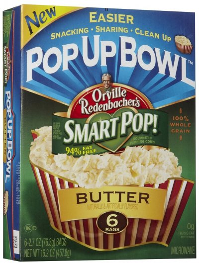 Smart Pop!  Butter Pop Up Bowl Popcorn