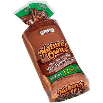 Bread 100% Whole Grain Wheat, Sugar Free