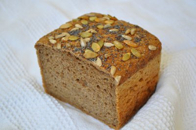 Bread, 100% Whole Wheat Whole Grain, Flaxseed