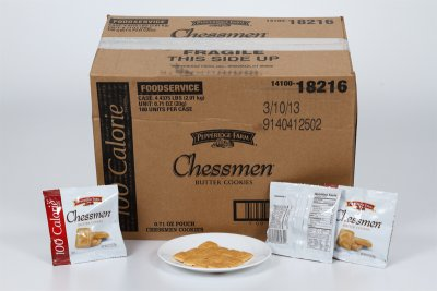 Butter Cookies, Chessmen, 100 Calorie Pack
