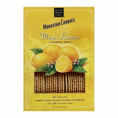 Meyer Lemon Moravian Cookies