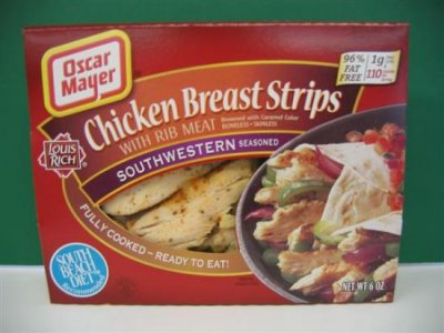 Fully Cooked Chicken Breast Strips with Rib Meat