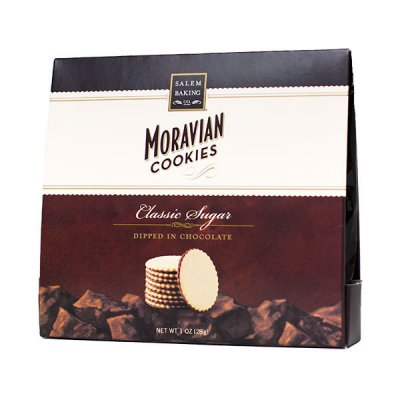 Mint Dipped in Chocolate Moravian Cookies