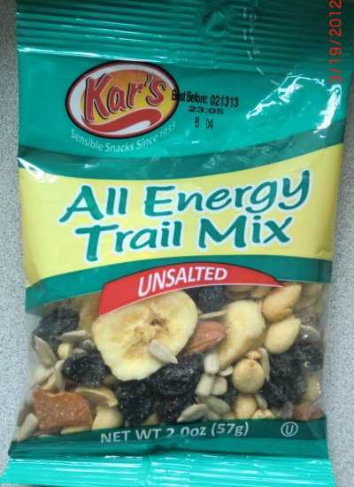 Trail Mix, All Energy, Unsalted