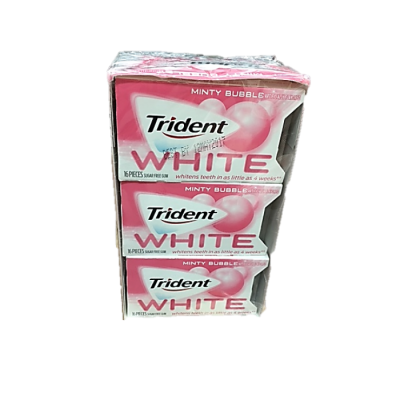 Chewing Gum, White, Sugar Free
