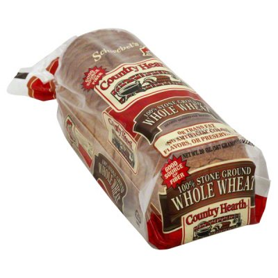 Bread, Hearty Homestyle Lite, 100% Whole Wheat