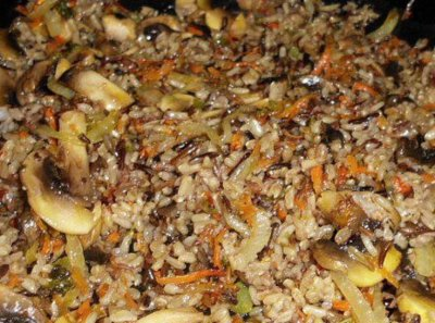 Long Graiin & Wild Rice With Vegetables