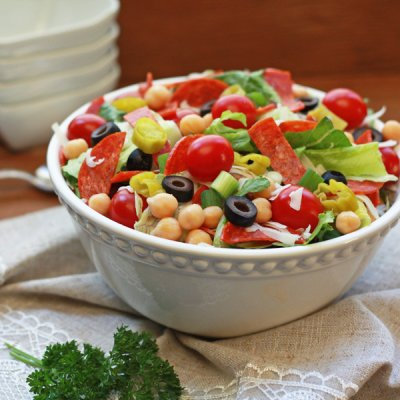 Antipasto Salad without Dressing, Medium (2 Servings)