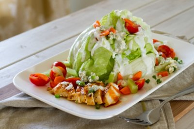 Fat Salad Wedge with Chicken (no dressing)