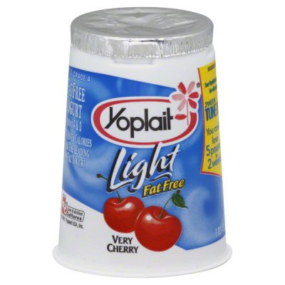 Yogurt, Low-fat, Cherry