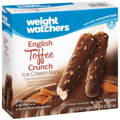 English Toffee Crunch Ice Cream Bars