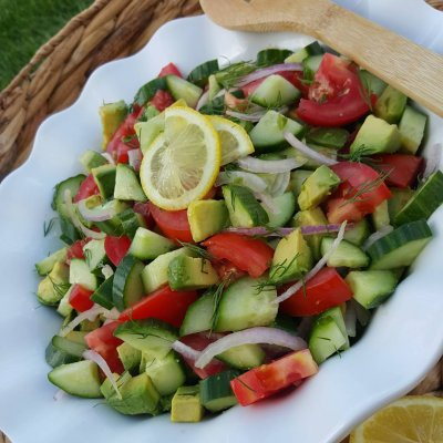 Side Garden Salad and Avocado Ranch Dressing