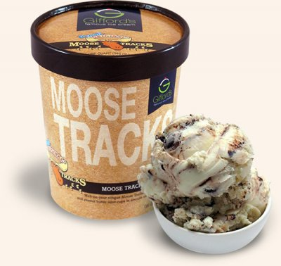 Moose Tracks Vanilla Ice Cream With Peanut Butter