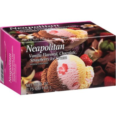 Neapolitan Vanilla, Chocolate & Strawberry Ice Cream