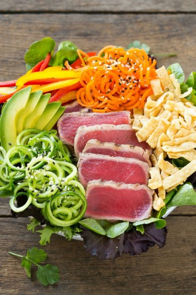 Sesame Salad with Ahi Tuna