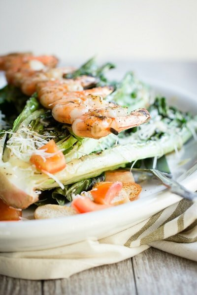 Classic Caesar Salad, Full with Grilled Shrimp