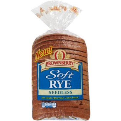 Soft Rye Seedless Bread