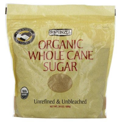 Organic Whole Cane Sugar, Unrefined & Unbleached