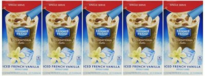 Beverage Mix, Cafe-Style Iced Latte French Vanilla 6 Ct