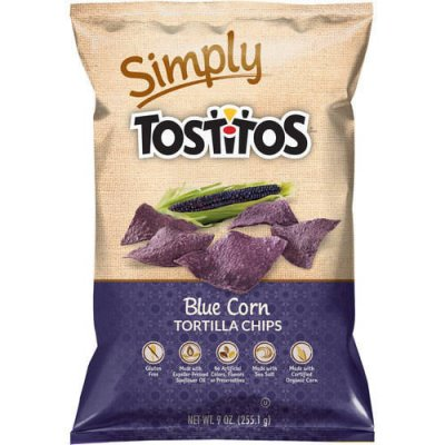 Corn Chips, Blue, Organic, Mexican Style
