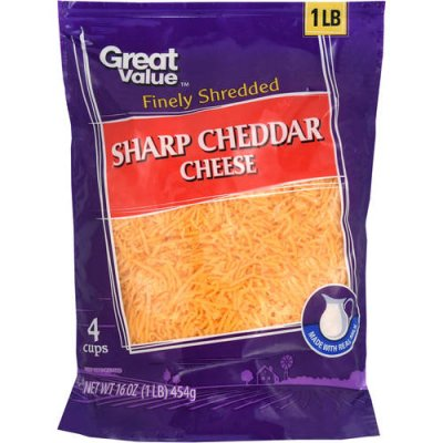 Sharp Cheddar Finely Shredded Sharp Cheddar Cheese