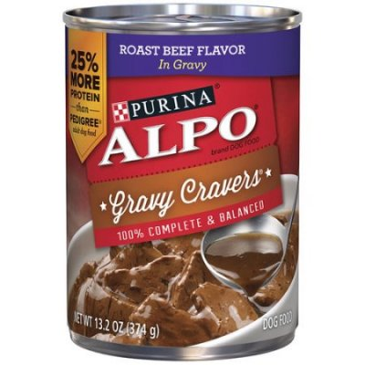 Dog Food, W/Beef Strips In Gravy