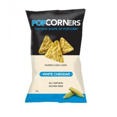 Popped Corn Chips - White Cheddar