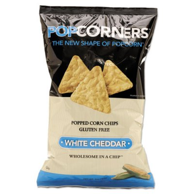 Popped Corn Chips, White Cheddar