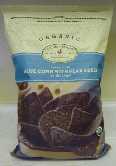 Tortilla Chips, Organic Blue Corn, with Flax Seed