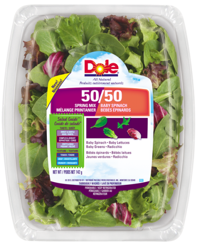 50/50 Blend, Baby Spinach & Spring Mix