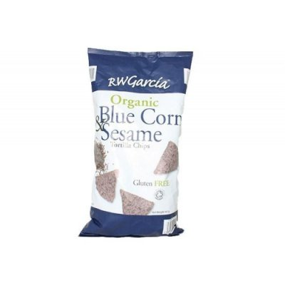 Organic Tortilla Chips, Blue Corn with Sesame