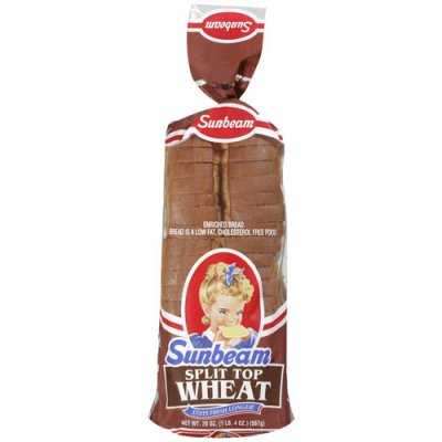 SHURFRESH BREAD SPLIT TOP WHEAT