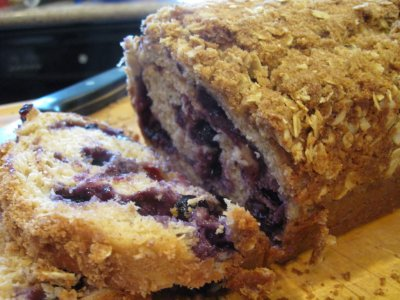 Blueberry Streusel Breakfast Bread
