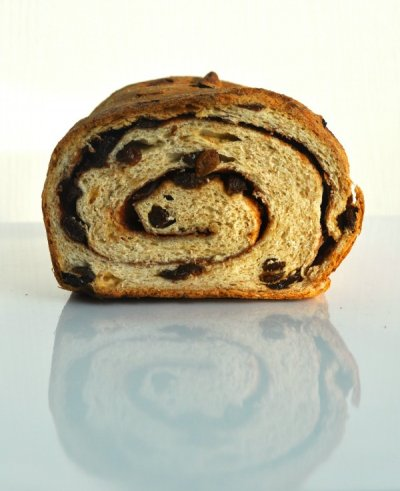 Bread, Bakery, Cinnamon, with Raisins