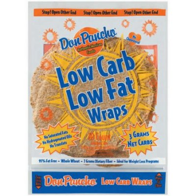 Wraps,Low Carb Low Fat Whole Wheat Large 8 Ct