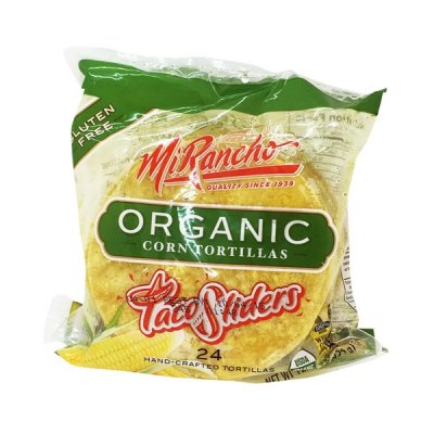 Hand-Crafted Organic Corn Tortillas, Taco Sliders