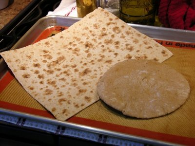 Whole Wheat Lavash Flatbread