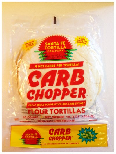 Carb Chopper Wheat Tortillas