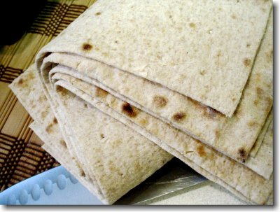 Clay Oven Baked Whole Wheat Lavash Bread