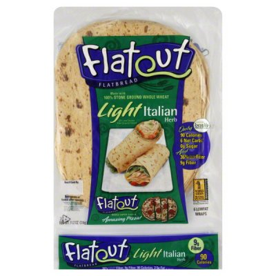 Flatbread Wraps, Light Italian Herb