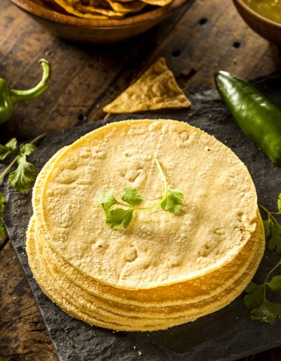 Yellow Corn Tortillas, Flatbread