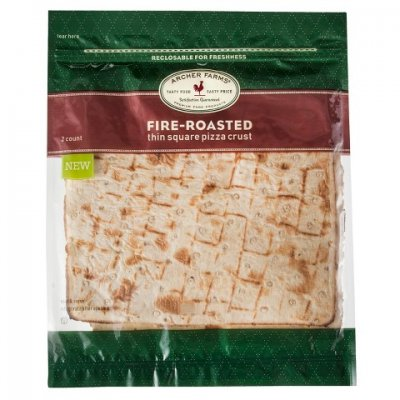 Fire-Roasted Thin Square Pizza Crust