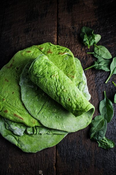 Flour Tortillas, Spinach