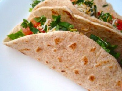 Soft Taco, Whole Wheat Tortillas