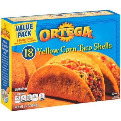 Taco Shells, Yellow Corn 18 Ct