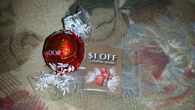 Lindor Truffles, with a Smooth Filling, Dark, Peppermint