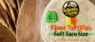 Soft Taco Size White Flour Tortillas