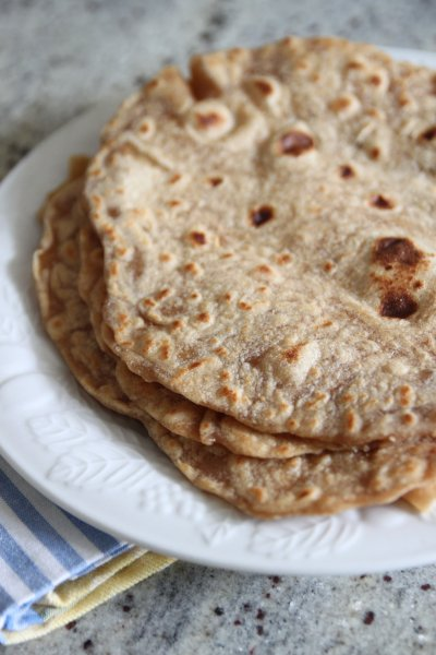 Whole Wheat Homemade Style Tortillas