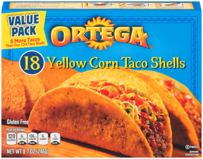 Yellow Corn Authentic Mexican Taco Shells
